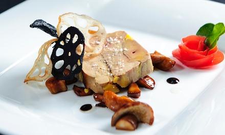 Menu à la carte avec entrée, plat et dessert pour 2 ou 4 personnes dès 65 €au restaurant Lauberge du Cens