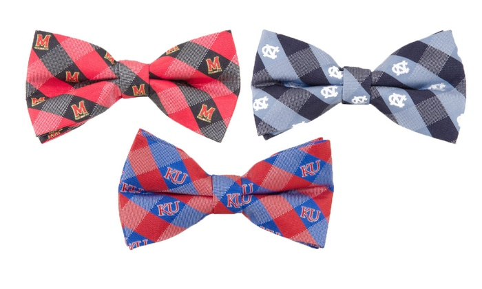 NCAA Men's Fashion Check Bowties