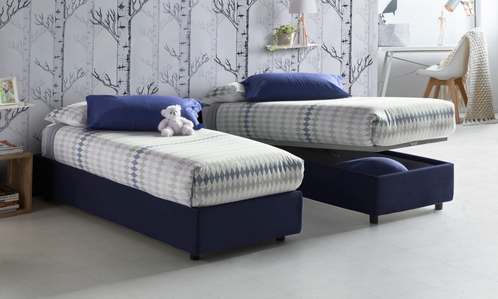 Letto Sommier Contenitore.Letto Sommier Con Contenitore Groupon Goods