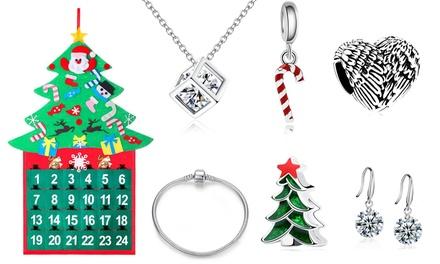 Calendario dell'Avvento con gioielli e cristalli Swarovski®