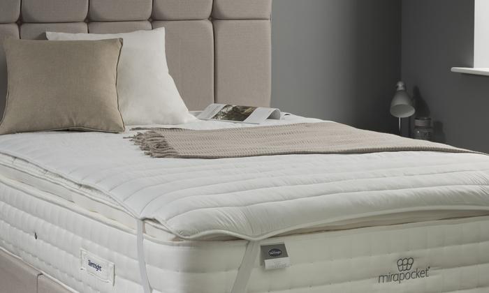 silentnight mattress topper groupon goods. Black Bedroom Furniture Sets. Home Design Ideas