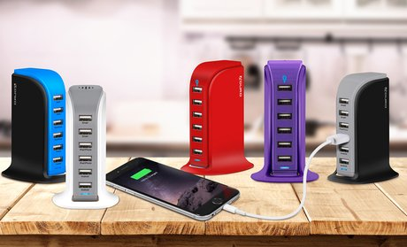 Aduro PowerUp 40-Watt 6-Port USB Charging Station