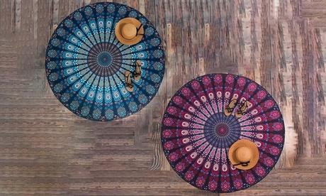 1 o 2 toallas redondas mandala con estampado azteca Oferta en Groupon