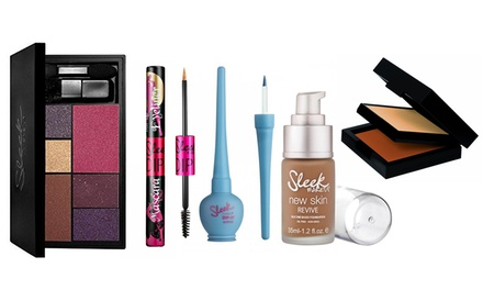 Sleek MakeUp Products: Foundation, Powder, Eye and Cheek Palette, Lip Balm, Liquid Eyeliner or Eyeliner Mascara
