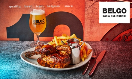 Two or ThreeCourse Meal for Two at Belgo, Three Locations