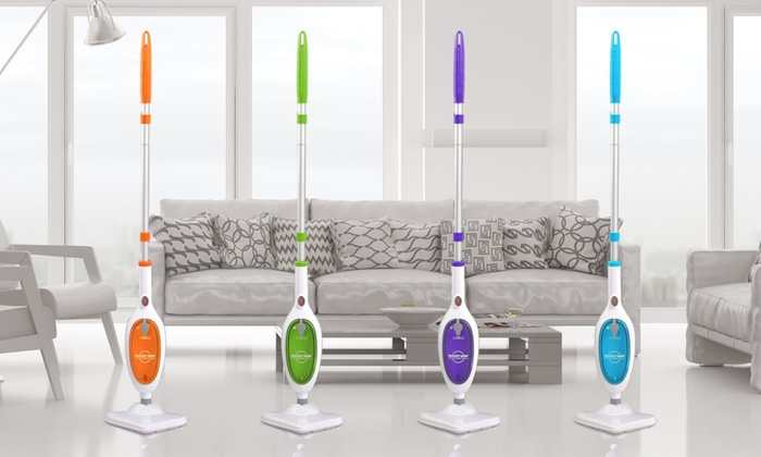 Groupon Goods Global GmbH: Mediatec Smart Mop La Scopa a Vapore Intelligente 10 in 1 disponibile in 4 colori