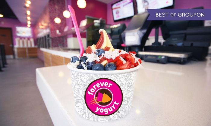 Forever Yogurt - Glenview - Forever Yogurt  : Frozen Yogurt and Smoothies at Forever Yogurt (40% Off). Three Options Available.