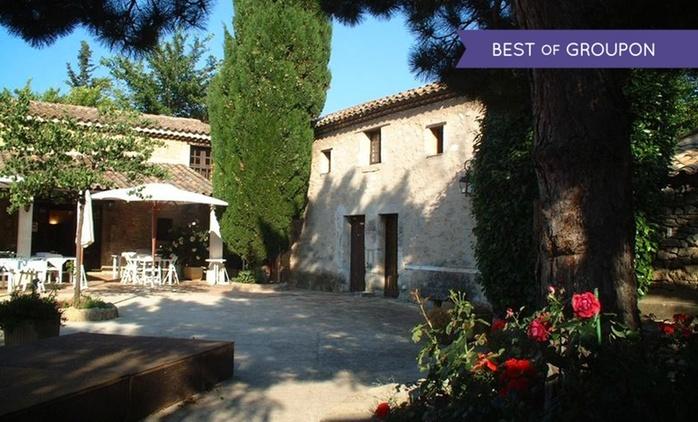 Provence : 1 à 5 nuits avec petit déjeuner, dîner et cocktail ou champagne en option au Domaine de la Reynaude pour 2