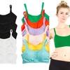 Zodaca Multicolor Women's Cotton Padded Tank Top Bralette (6-Pack)