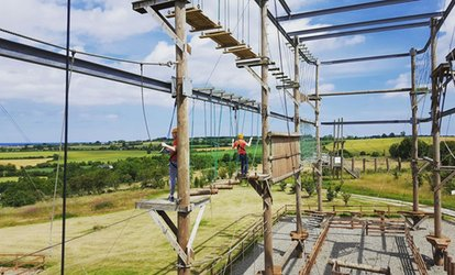 image for Outdoor Adventure Tower Course for Two or Family at Courtlough Outdoor Adventures (Up to 50% Off)