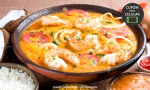 Manzuá: Manzuá - Pontão do Lago Sul:almoço ou jantar para 2 pessoas com moqueca mista de peixe e camarão