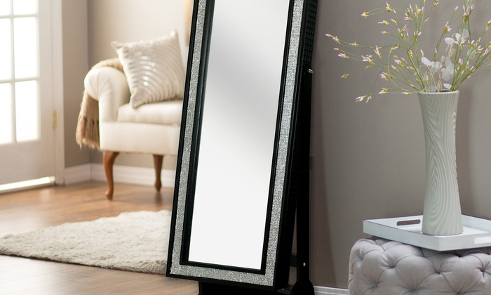 Full Length Cheval Mirror And Jewelry Armoire Groupon