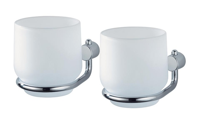Double frosted glass holder groupon for Double glazing deals