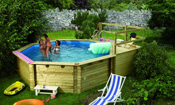 swimmingpool aus holz groupon goods. Black Bedroom Furniture Sets. Home Design Ideas