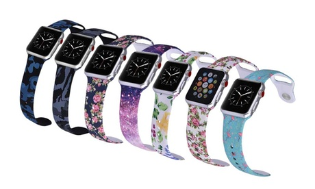 LAX Designer Pattern Silicone Sport Band for Apple Watch 38mm or 42mm