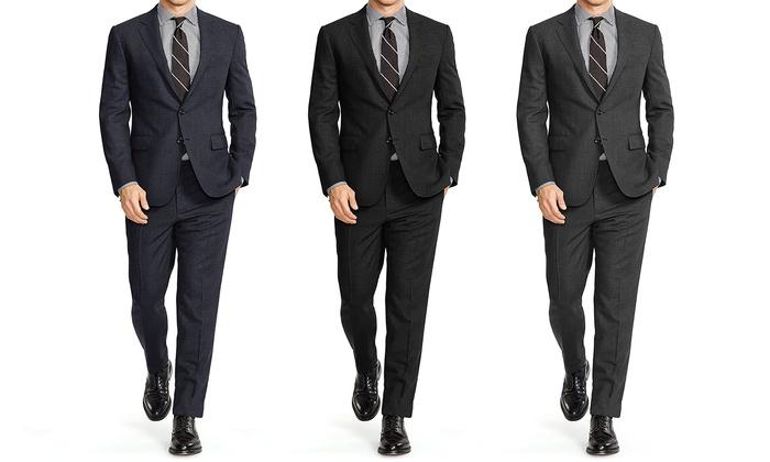 Vincent Moretti Birds Eye Classic Fit Suit: Vincent Moretti Birds Eye Classic Fit Suit