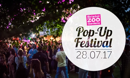 Pop-Up Festival, 28 July, Bristol Zoo (Up to 50% Off)
