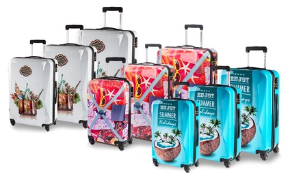 SiestaDesign Printed Suitcases in Choice of Design for £89.99 With ...