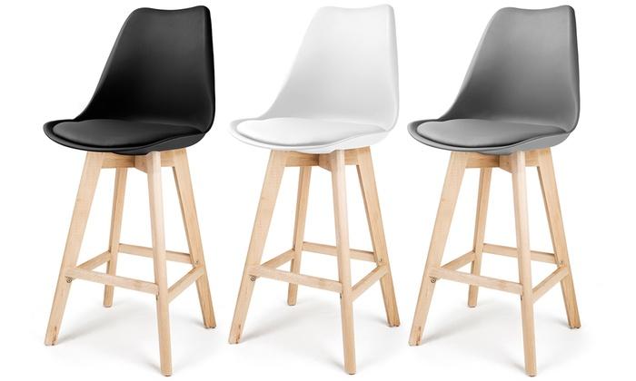 2 sgabelli in legno homekraft groupon goods for Sgabelli bar legno