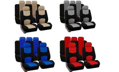 Shop Groupon 9 Pc Universal Car Seat Cover