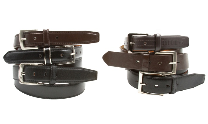 Men's Black and Brown Belts (2-Pack)
