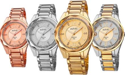 Womens August Steiner Diamond Dial Watch