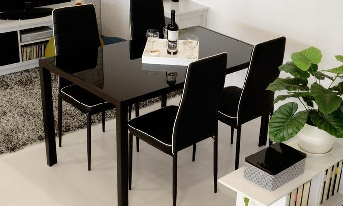 Set tavolo con 4 sedie arcadia groupon goods for Tavolo groupon