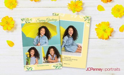 "Professional Photo Session with 36, 60, or 84 5""x7"" Premium Cards at JCPenney Portraits (Up to 81% Off)"