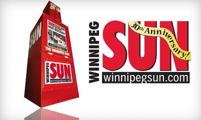 The Winnipeg Sun - Winnipeg: $40 for a Six-Month Subscription to the Winnipeg Sun ($134 Value)