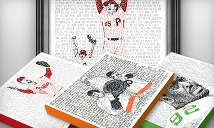Lionword: Wrapped or Framed Philadelphia Sports Prints With Shipping Included from Lionword (Up to 59% Off)