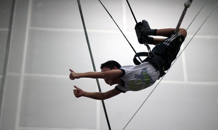 Two Hour Adult Trapeze Fly Session for One ($49), Two ($89) or Three People ($119) at Rooftop Trapeze (Up to $231 Value)