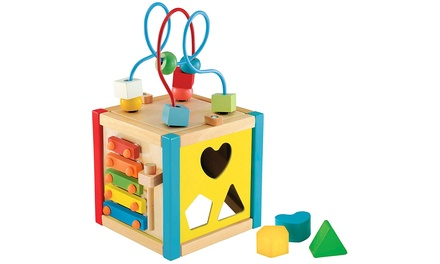 Up to Three Early Learning Centre Wooden Small Activity Cubes