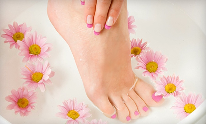 Salon Envy and Boutique - Lodi: $29 for No-Chip Axxium by OPI Manicure and Pedicure at Salon Envy and Boutique ($60 Value)