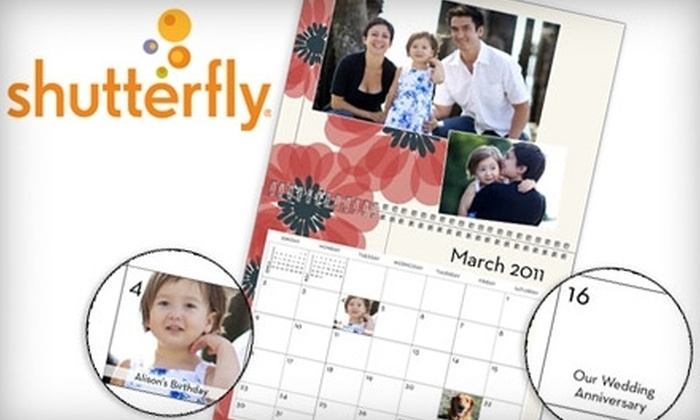 Shutterfly: $20 for Two Personalized 12-Month Wall Calendars from Shutterfly