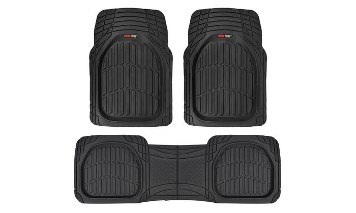 Motor trend heavy duty rubber floor mats 3 piece for Motor trend floor mats review