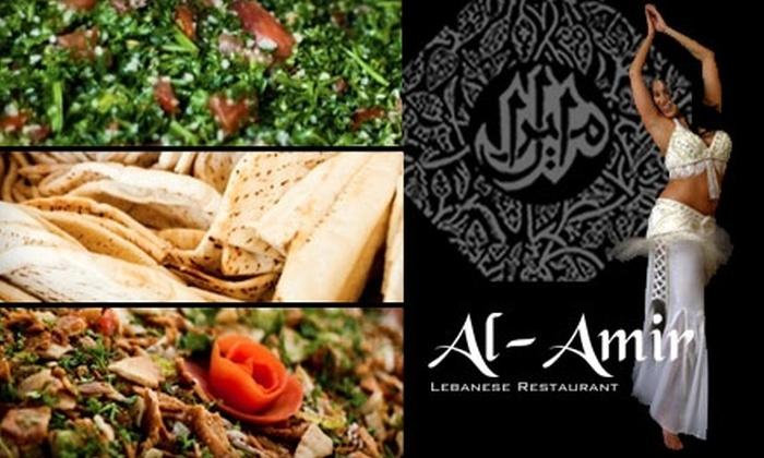 Al-Amir Lebanese Restaurant - Downtown: $15 for $30 Worth of Lebanese Fare and Drinks at Al-Amir Lebanese Restaurant