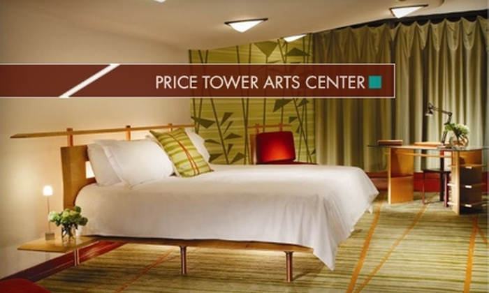 Price Tower Arts Center - Bartlesville: $72 for a One-Night Stay, Exhibition and Building Tour, and Breakfast at the Price Tower Arts Center in Bartlesville ($145 Value)
