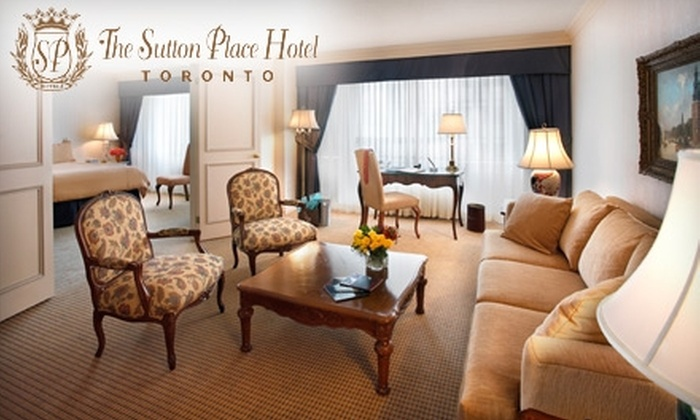 """The Sutton Place Hotel - Downtown Toronto: $193 for the """"Accent on Romance"""" One-Night Stay at The Sutton Place Hotel ($439 Value)"""