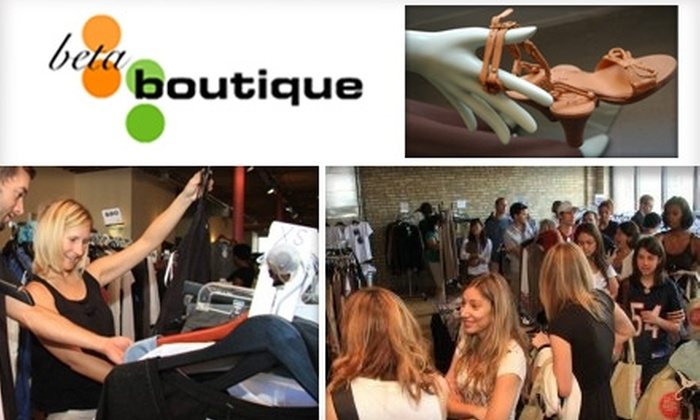 Beta Boutique - Near North Side: $25 for $50 Toward Discount Designer Fashions From Beta Boutique at Groupon Exclusive Pre-sale
