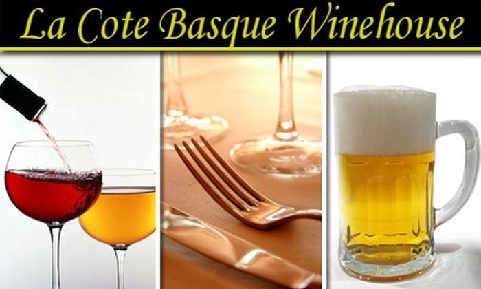 La Cote Basque - Gulfport: $10 for $25 Worth of French Fare & Drinks at La Cote Basque
