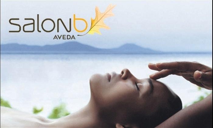 Salon b - Arden - Arcade: $59 for Aveda Hair Spa Treatment and Facial at Salon b
