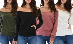 Lyss Loo Dreamy Dancer Wide Neck Sweatshirt Top