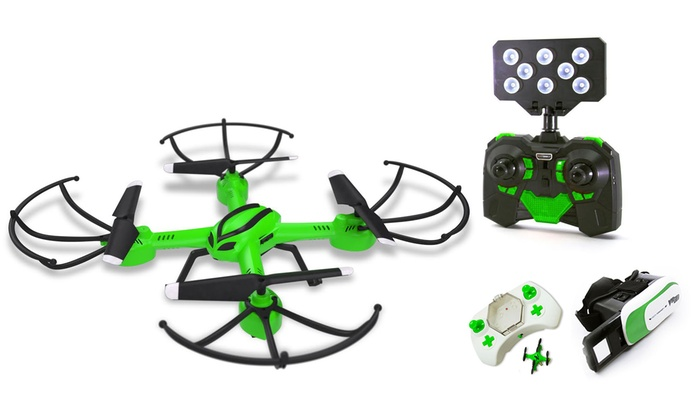 Galactic Video Streamer II Drone with VR Headset and Bonus Mini Groupon Flyer - Exclusive Color!