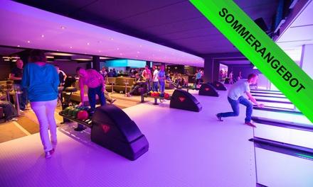 2 Std. Bowling inkl. Snacks und Leihschuhen für bis zu 7 Spieler bei Bowlo bowling & lounge (bis zu 50% sparen*)
