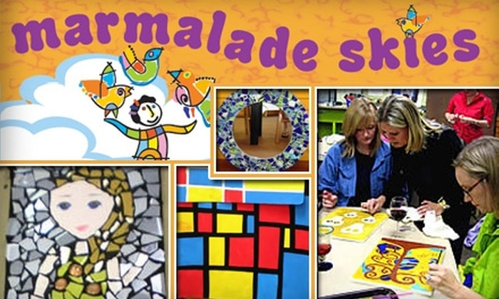 Marmalade Skies Art Studio - Northwest Austin: $20 for $40 Worth of Classes or Parties at Marmalade Skies Art Studio