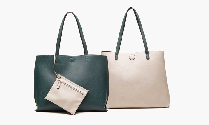 Reversible Tote with Free Matching Pouch: Reversible Tote with Free Matching Pouch