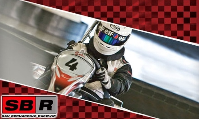 San Bernardino Raceway - South Pointe: $30 for Four Kart Races at San Bernardino Raceway