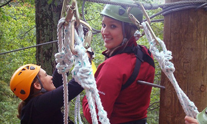 eXplore Brown County at Valley Branch Retreat - Explore Brown County/Paintball Valley: Winter Exploration Zipline Canopy Tour for One or Two from eXplore Brown County at Valley Branch Retreat in Nashville (Up to 59% Off)