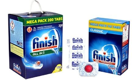 Up to 400 Finish Powerball Classic or AllinOne Lemon Dishwasher Tablets Mega Pack Box