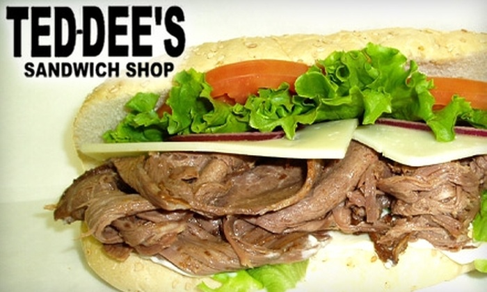 Ted Dee's Sandwich Shop - Downtown: $6 for Two Subs at Ted Dee's Sandwich Shop ($12 Value)